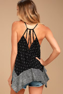 Beach Princess Black and White Print Tank Top 3