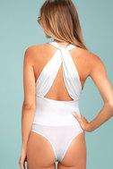 Hot-Cha-Cha White Bodysuit 5