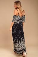 Billabong Desert Dance Washed Black Print Maxi Dress 2