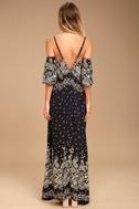 Billabong Desert Dance Washed Black Print Maxi Dress 3