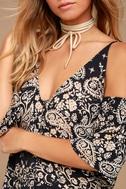 Billabong Desert Dance Washed Black Print Maxi Dress 4