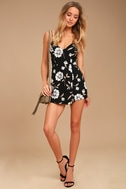 Magical Meadow Black Floral Print Skort Dress 1
