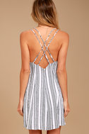 Apres Sea Black and White Striped Dress 3