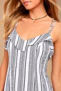 Apres Sea Black and White Striped Dress 4