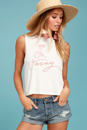 Sage the Label Leave a Message Cream Tank Top 1