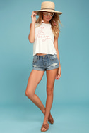 Sage the Label Leave a Message Cream Tank Top 2