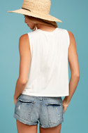 Sage the Label Leave a Message Cream Tank Top 3