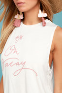 Sage the Label Leave a Message Cream Tank Top 4