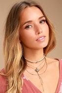 Streets of Santa Fe Gold Layered Choker Necklace 2
