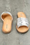 Zola Silver Slide Sandals 3