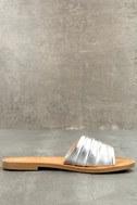 Zola Silver Slide Sandals 2