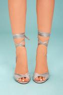 Rumer Grey Suede Lace-Up Heels 2