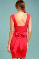 Glam Affair Coral Red Bodycon Dress 3