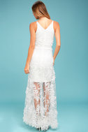 Dress the Population Sidney White Embroidered Maxi Dress 3