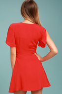 Sea Day Red Skater Dress 3