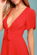 Sea Day Red Skater Dress 4
