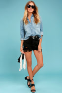 All a Dream Blue Denim Button-Up Top 2