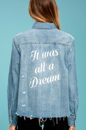 All a Dream Blue Denim Button-Up Top 1