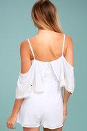 Rahi Cali Dreamer White Embroidered Off-the-Shoulder Romper 3