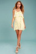 Rahi Cali Delilah Yellow Embroidered Swing Dress 1