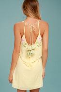 Rahi Cali Delilah Yellow Embroidered Swing Dress 3