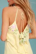 Rahi Cali Delilah Yellow Embroidered Swing Dress 4