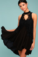 Free People Tell Tale Heart Black Lace Tunic 6