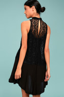 Free People Tell Tale Heart Black Lace Tunic 7