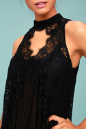 Free People Tell Tale Heart Black Lace Tunic 8