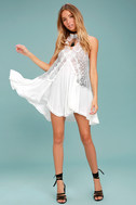 Free People Tell Tale Heart White Lace Tunic 1