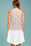 Free People Tell Tale Heart White Lace Tunic 3