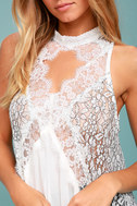 Free People Tell Tale Heart White Lace Tunic 4