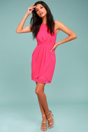 Best Wishes Fuchsia Dress 1