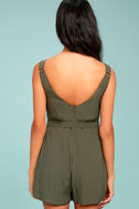 Sunny Melody Olive Green Romper 3