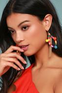 Ettika Festival Frenzy Gold and Rainbow Earrings 2