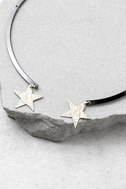 Trip to the Stars Gold and Gunmetal Collar Necklace 3