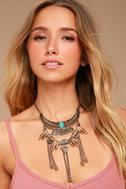 Rhea Layered Gold Statement Necklace 3