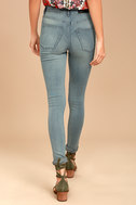 Cheap Monday High Snap Light Wash High-Waisted Skinny Jeans 3
