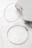 Come and Get It Rose Gold Hoop Earrings 2