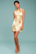 Royal Palms Gold Brocade Dress 1