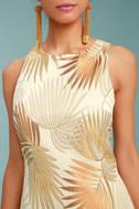 Royal Palms Gold Brocade Dress 4