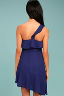 Beautiful View Royal Blue One-Shoulder Dress 3
