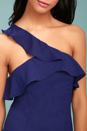 Beautiful View Royal Blue One-Shoulder Dress 4
