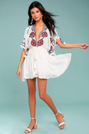 Free People Cora White Embroidered Dress 1