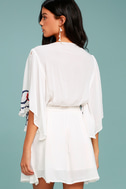 Free People Cora White Embroidered Dress 3