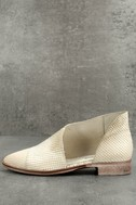 Free People Royale White Leather D'Orsay Pointed Toe Booties 1