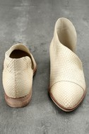 Free People Royale White Leather D'Orsay Pointed Toe Booties 3