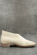 Free People Royale White Leather D'Orsay Pointed Toe Booties 2