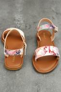 Bailey Blush Multi Flat Sandals 3