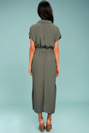 Destination Chic Olive Green Midi Dress 3
